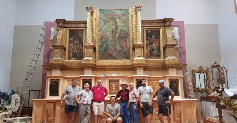Nuevo retablo de la Iglesia Grande Nuestra Señora de la Asunción